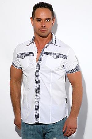 Черная мужская дизайнерская рубашка со.